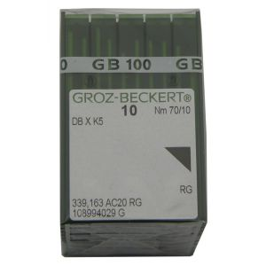 Groz-Beckert PK x 100 Needles DBxK5 RG 10-70 for Embroidery Machines