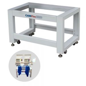 Heavy Duty Ergonomic Rolling Steel Stand for CAMFive HT1502 Embroidery Machine