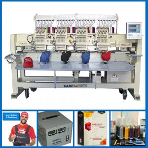 DEAL - CAMFive EMB CT1204 Four Heads Embroidery Machine FULL PACKAGE
