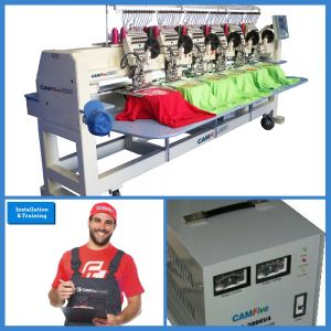 DEAL - CAMFive EMB CT1206 Six Heads Embroidery Machine BASIC PACKAGE