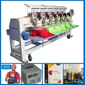 DEAL - CAMFive EMB CT1206 Six Heads Embroidery Machine FULL PACKAGE