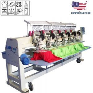 CAMFive EMB CT1206 Six Heads Industrial and Professional Embroidery Machine