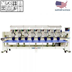 CAMFive EMB CT1208 Eight Heads Industrial - Professional Embroidery Machine